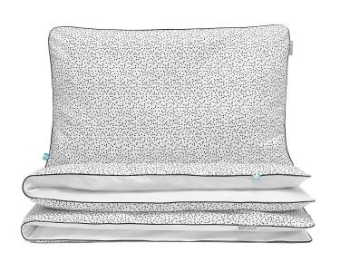 Bettwäsche gepunktet schwarz/ weiß aus hochwertiger Baumwolle