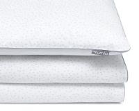 Bedruckte Baumwoll-Kinderbettwäsche Kreise grau/ weiß
