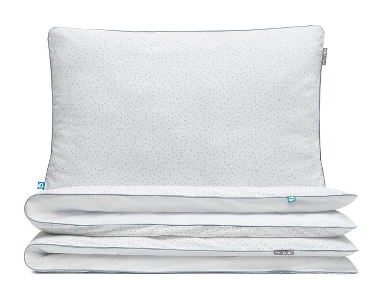 Kinderbettwäsche Kreise grau/ weiß aus hochwertiger Baumwolle