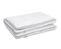 Bettwäsche Kreise grau/ weiß aus Baumwolle hochwertig