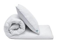 Schöne Bettwäsche Kreise grau/ weiß aus zertifizierter Baumwolle