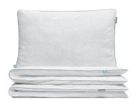 Bettwäsche Kreise grau/ weiß aus hochwertiger Baumwolle