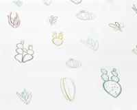 Baumwoll-Kinderbettwäsche grüne Kaktus auf klassischem weiß