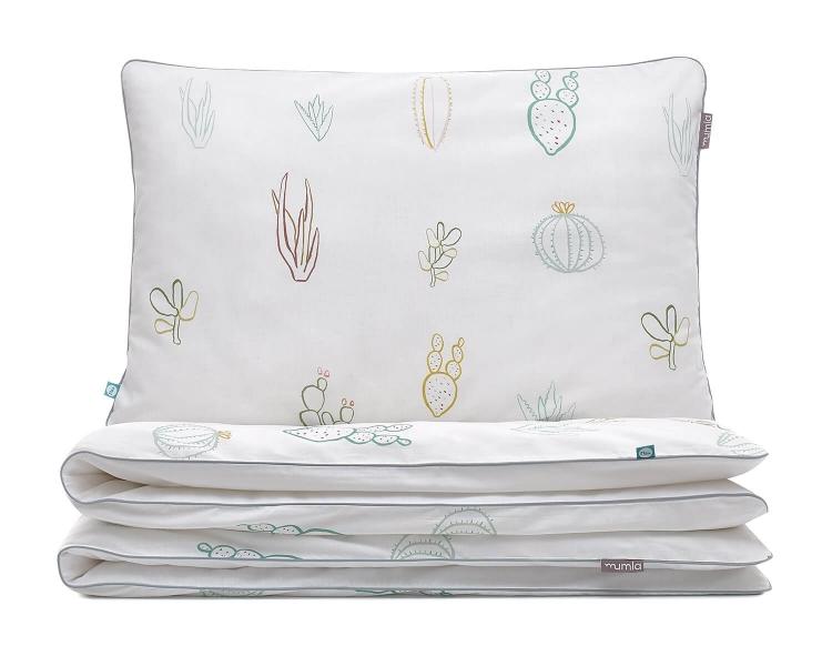 Kinderbettwäsche Kaktus grün/ weiß aus hochwertiger Baumwolle