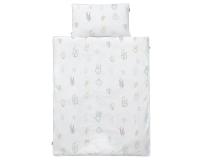 Kinderbettwäsche Kaktus grün/ weiß in 90x120 cm und 100x135 cm