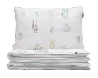 Bettwäsche Kaktus grün/ weiß aus hochwertiger Baumwolle