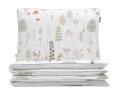 Kinderbettwäsche Wald grün/ weiß aus hochwertiger Baumwolle