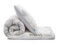 Schöne Kinderbettwäsche Wald grün/ weiß aus zertifizierter Baumwolle