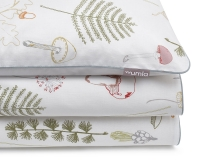 Bedruckte Baumwoll-Kinderbettwäsche Wald grün/ weiß