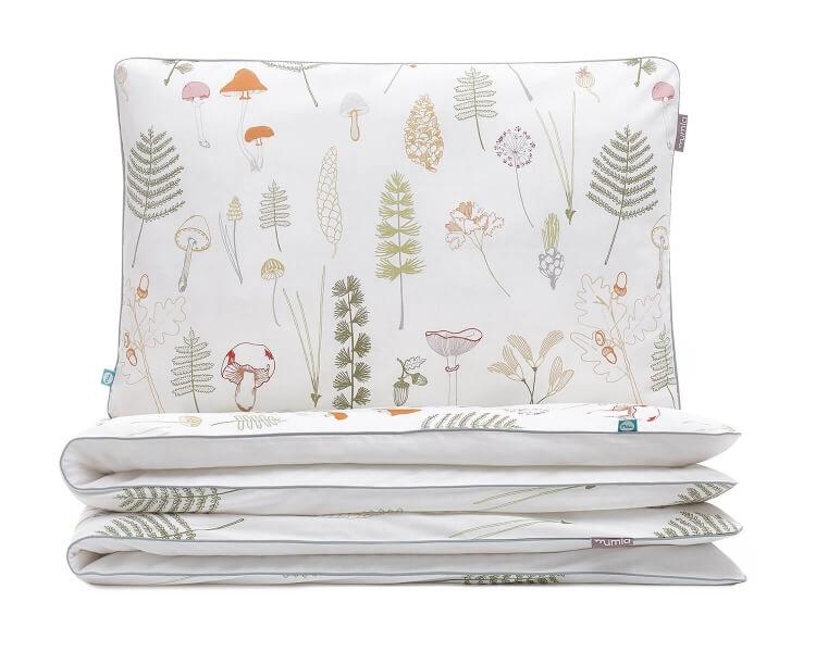 Bettwäsche Wald grün/ weiß aus hochwertiger Baumwolle