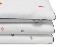 Bedruckte Baumwoll-Kinderbettwäsche Abstrakt bunt/ weiß