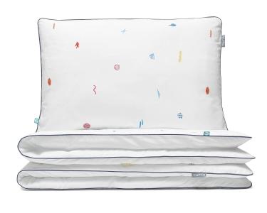 Bettwäsche Abstrakt bunt/ weiß aus hochwertiger Baumwolle