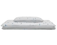 Hochwertige Kinderbettwäsche Striche blau/ weiß günstig online kaufen