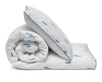 Schöne Kinderbettwäsche Striche blau/ weiß aus zertifizierter Baumwolle