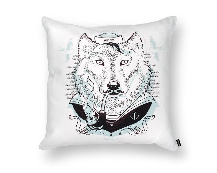 Wolf Deckokissen Seemann Hayka von Foonka
