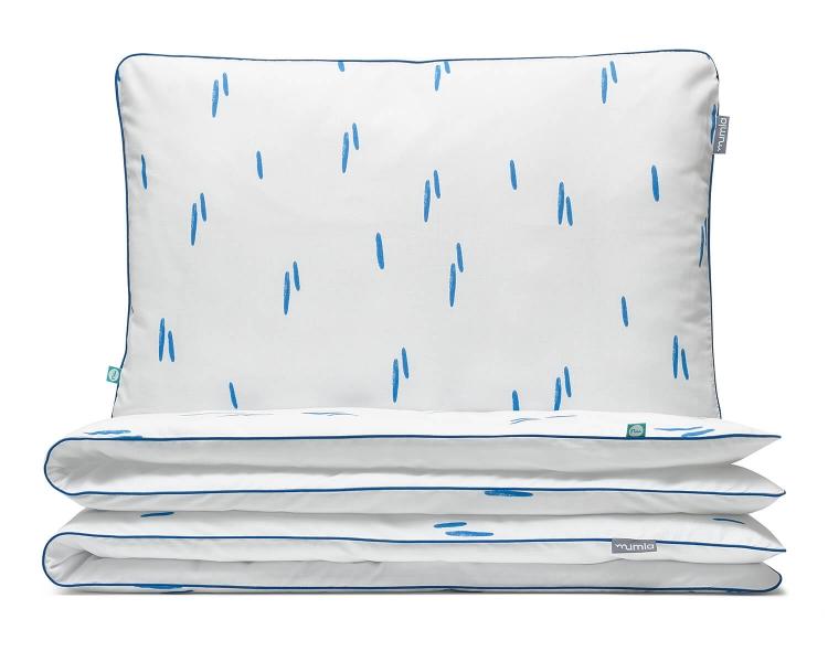Bettwäsche Striche blau/ weiß aus hochwertiger Baumwolle