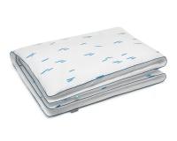 Bettwäsche Striche blau/ weiß aus Baumwolle hochwertig