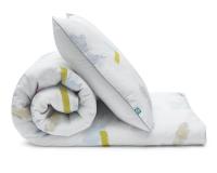 Bedruckte Baumwoll-Kinderbettwäsche Pastell bunt/ weiß