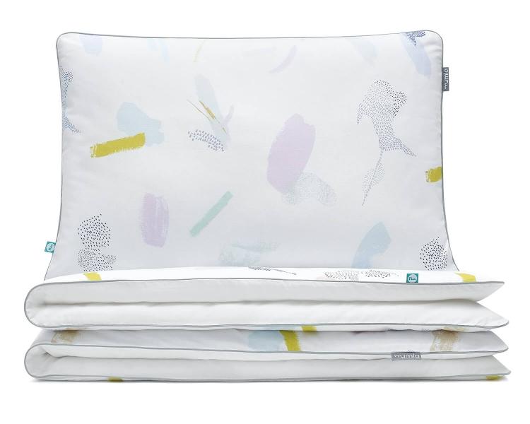 Kinderbettwäsche Pastell bunt/ weiß aus hochwertiger Baumwolle