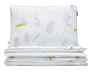 Bettwäsche Pastell bunt/ weiß aus hochwertiger Baumwolle
