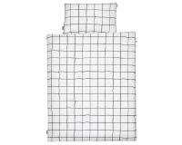 Kinderbettwäsche kariert schwarz/ weiß in 90x120 cm und 100x135 cm