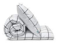 Schöne Kinderbettwäsche kariert schwarz/ weiß aus zertifizierter Baumwolle