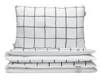 Kinderbettwäsche kariert schwarz/ weiß aus hochwertiger Baumwolle