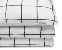 Bedruckte Baumwoll-Kinderbettwäsche kariert schwarz/ weiß