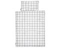 Bettwäsche kariert schwarz/ weiß Normalgröße 135x200 cm
