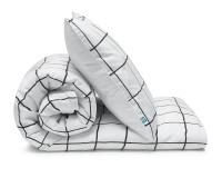 Schöne Bettwäsche kariert schwarz/ weiß aus zertifizierter Baumwolle