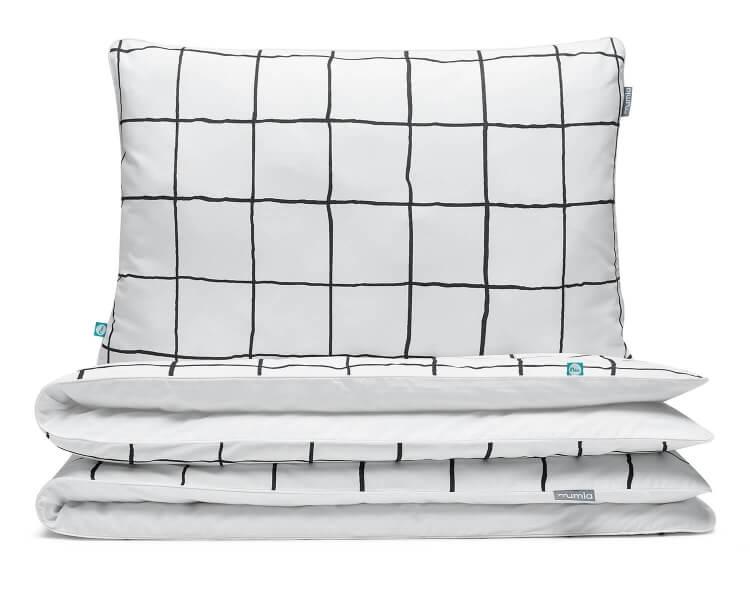 Bettwäsche kariert schwarz/ weiß aus hochwertiger Baumwolle
