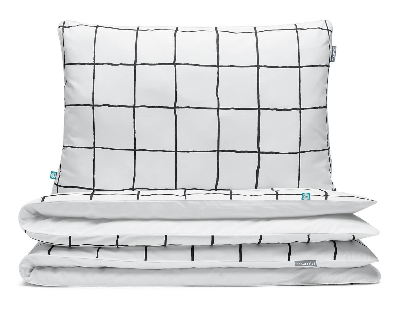 bettw sche kariert schwarz wei hochwertige baumwolle deckenbezug 135x200 cm inkl 1. Black Bedroom Furniture Sets. Home Design Ideas