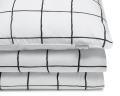 Bedruckte Baumwoll-Bettwäsche kariert schwarz/ weiß