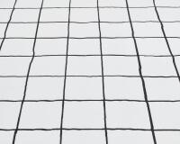 Baumwoll-Bettwäsche mit schwarz Karo auf klassischem weiß