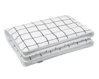 Bettwäsche kariert schwarz/ weiß aus Baumwolle hochwertig
