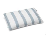 Baumwoll Bettbezüge gestreift blau-grau/ weiß