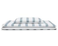 Hochwertige Bettwäsche gestreift blau-grau/ weiß günstig online kaufen
