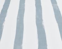 Baumwoll-Bettwäsche mit blau grauen Streifen auf klassischem weiß
