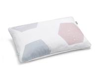 Baumwoll-Kinderbettwäsche Hexagon mit pastellfarbenen Sechsecken auf klassischem weiß