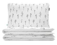 Bettwäsche monochromen Ästen Grafiken auf weiß aus hochwertiger Baumwolle
