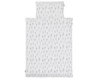 Baumwoll-Bettwäsche mit monochromen Ästen Grafiken auf klassischem weiß
