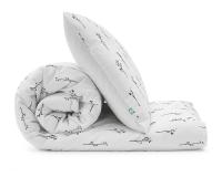 Bedruckte Baumwoll-Bettwäsche monochromen Ästen Grafiken auf weiß