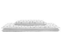 Bettwäsche monochromen Ästen Grafiken auf weiß Normalgröße 135x200 cm