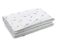 Hochwertige Bettwäsche mit blauen Bauernbübchen Muscari auf weiß günstig online kaufen