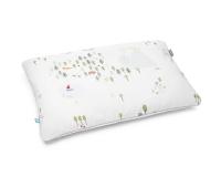 Baumwoll Kinderbettbezüge mit bunten Landschaftsmotiven auf weiß