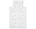 Natur Kinderbettwäsche mit bunten Landschaftsmotiven auf weiß in 90x120 cm und 100x135 cm