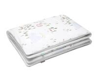 Natur Bettwäsche mit bunten Landschaftsmotiven auf weiß aus Baumwolle hochwertig