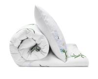Schöne Kinderbettwäsche Blumen mit weißen Lilien auf weiß aus zertifizierter Baumwolle