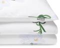 Bedruckte Baumwoll-Kinderbettwäsche Blumen mit weißen Lilien auf weiß