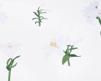 Baumwoll-Kinderbettwäsche Blumen mit weißen Lilien auf klassischem weiß